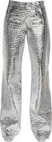 Loewe Croc Print Metallic Nappa Leather Pants
