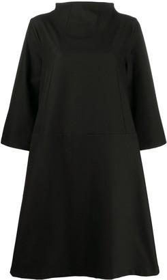 Societe Anonyme mock neck A-line dress