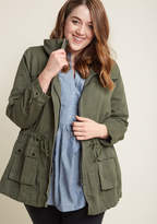 ModCloth Escape into Nature Jacket in Moss in L