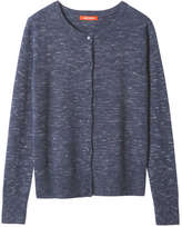 Joe Fresh Women's Essential Crew Neck Cardi, Navy Mix (Size L)