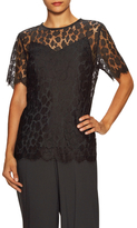 Max Mara Haven Lace Scalloped Blouse