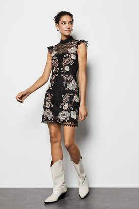 Karen Millen Floral Lace Embroidered Dress