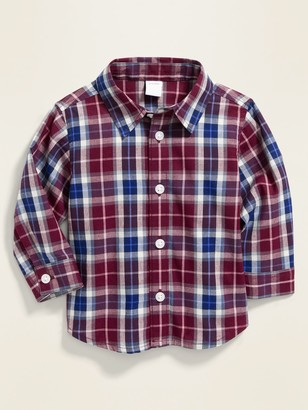 Old Navy Plaid Poplin Shirt for Baby