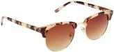 Tortoise & Brown Browline Sunglasses