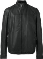 HUGO BOSS high collar jacket - men - Cotton/Lamb Skin/Polyamide/Polyester - 46