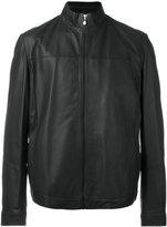 HUGO BOSS high collar jacket - men - Cotton/Lamb Skin/Polyamide/Polyester - 58