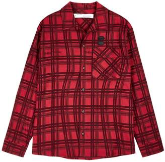 Off-White Off White Red checked brushed cotton shirt