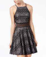 City Studios Juniors' Geometric-Lace Dress