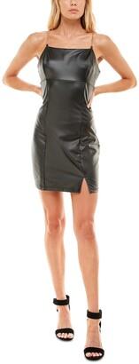 Ultra Flirt Juniors' Faux Leather Chain Strap Dress