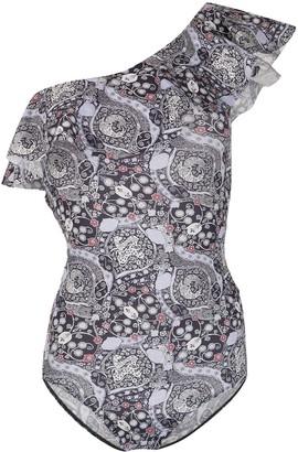 Isabel Marant Sicilya one-shoulder swimsuit