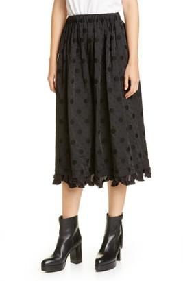 Comme des Garcons Jacquard Dot Midi Skirt