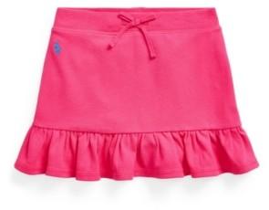 Polo Ralph Lauren Toddler Girls Ruffled Stretch Mesh Skort