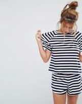 Asos Breton Stripe Tee & Short Pyjama Set