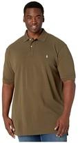 Polo Ralph Lauren Big & Tall Big Tall Basic Mesh Short Sleeve Custom Slim Fit Polo (Defender Green) Men's Coat