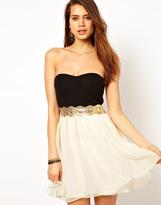 Bandeau Chiffon Prom Dress