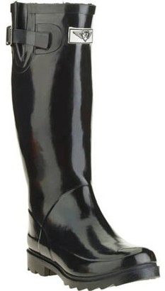 Forever Young Women's Faux Fur Lining Tall Rain Boot