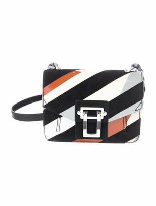Proenza Schouler Striped Hava Crossbody Bag Black