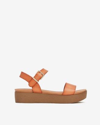 Express Single Strap Slingback Platform Sandals