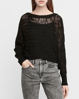 Express Open Stitch Dolman Sleeve Sweater
