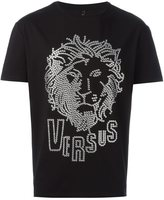 Versus lion head T-shirt - men - Cotton/Spandex/Elastane/metal - S
