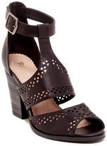 Restricted Wait Up Laser Cut Heeled Sandal