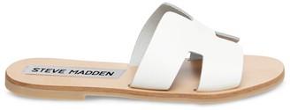 Steve Madden Greece White Leather