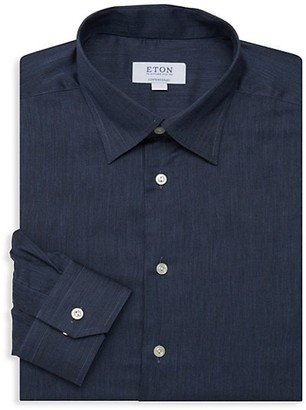 Eton Contemporary Fit Solid Flannella Dress Shirt