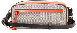 Colville - Leather-panelled Canvas Cross-body Bag - Beige Multi