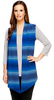 Denim & Co. Heavenly Jersey Heather Ombre Drape Front Vest