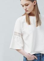 Mango Outlet Short Sleeve Cotton Sweatshirt