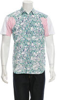 Comme des Garcons Printed Short Sleeve Button-Up Shirt w/ Tags