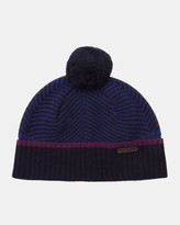 Twill Knitted Bobble Hat
