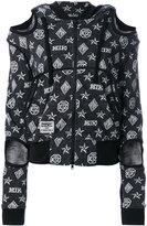 Kokon To Zai logo embroidered hooded sweater - women - Cotton - XS