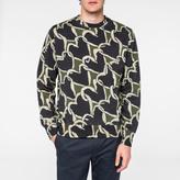 Paul Smith Men's Khaki 'Chain-Link Heart' Print Sweatshirt