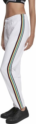 Urban Classics Women's Ladies Multicolor Side Taped Track Pants Short