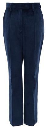 Acne Studios High-rise Cotton-blend Corduroy Trousers - Blue