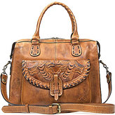 Patricia Nash Burnished Tooled Collection Marliano Satchel