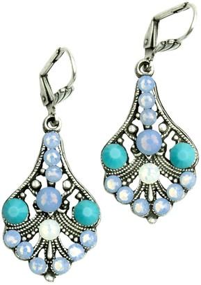 Anne Koplik Air Blue & Turquoise Medium Bell Earrings