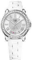 Juicy Couture Ladies Pedigree Silvertone and Crystal Watch