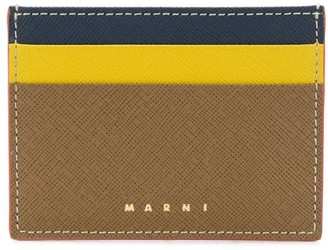 Marni Saffiano leather card case
