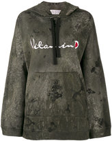 Drifter Acid Wash Ventus embroidered hoodie - women - Cotton - S