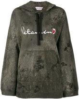 Drifter Acid Wash Ventus embroidered hoodie - women - Cotton - XS