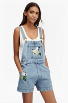 French Connection Dionne Denim Dungaree Shorts