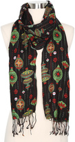 Betseyville by Betsey Johnson Black Bauble Holiday Scarf