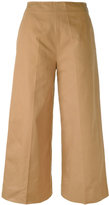 MSGM flared cropped trousers - women - Cotton - 42