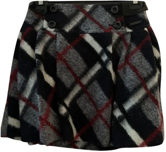 Burberry Blue Wool Skirt for Women