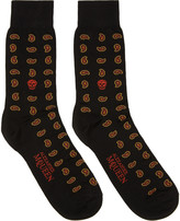 Alexander McQueen Red Mini Paisley Skull Socks