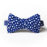 Royal Blue Floral Bow Tie