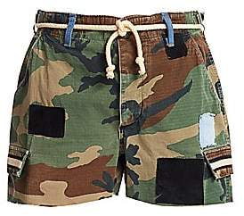 Riley Women's Camo Cut-Off Belted Shorts
