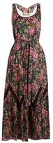 No.21 NO. 21 Floral-print racer-back cotton maxi dress